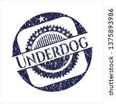 blue underdog distress rubber...   Shutterstock .eps vector #1375893986