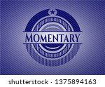 momentary emblem with jean...   Shutterstock .eps vector #1375894163