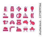australia icon set vector with...