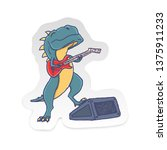 cartoon t rex dinosaur with... | Shutterstock .eps vector #1375911233