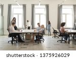 busy company department members ... | Shutterstock . vector #1375926029