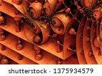 abstract background 3d ... | Shutterstock . vector #1375934579