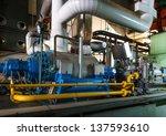 modern boiler room equipment... | Shutterstock . vector #137593610