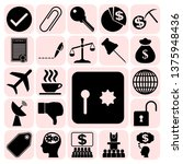set of 22 business high quality ... | Shutterstock .eps vector #1375948436