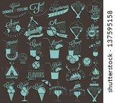 retro vintage style restaurant... | Shutterstock .eps vector #137595158