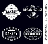 bakery logotypes set. bakery... | Shutterstock .eps vector #1375962899