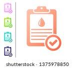 coral medical clipboard with... | Shutterstock .eps vector #1375978850