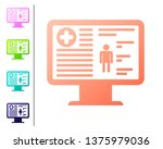 coral medical clinical record... | Shutterstock .eps vector #1375979036