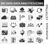 big data icon set  data... | Shutterstock .eps vector #137597960