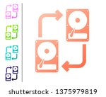 coral a fixed data storage... | Shutterstock .eps vector #1375979819