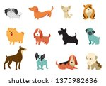 dogs collection of vector... | Shutterstock .eps vector #1375982636