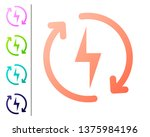 coral recharging icon isolated... | Shutterstock .eps vector #1375984196