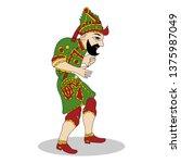 hacivat ottoman ramadan shadow... | Shutterstock .eps vector #1375987049