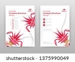 red flower petals business... | Shutterstock .eps vector #1375990049