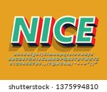 """nice"" retro vintage 3d... | Shutterstock .eps vector #1375994810"