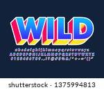 modern trendy 3d pop font... | Shutterstock .eps vector #1375994813
