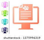 coral medical clinical record... | Shutterstock .eps vector #1375996319