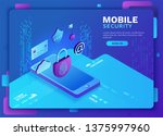cyber security 3d isometric...   Shutterstock .eps vector #1375997960