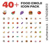 isolated food emoji pack ... | Shutterstock .eps vector #1376028053