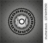 restaurant icon inside dark... | Shutterstock .eps vector #1376049050