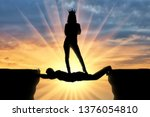 selfish woman with a crown... | Shutterstock . vector #1376054810