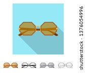 isolated object of glasses and... | Shutterstock .eps vector #1376054996