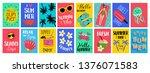 big set of summer hand drawn... | Shutterstock .eps vector #1376071583