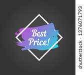 best price promo lettering.... | Shutterstock .eps vector #1376071793