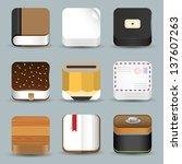 vector set of app icons | Shutterstock .eps vector #137607263