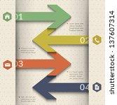 modern banner arrow design for... | Shutterstock .eps vector #137607314