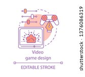 video game design concept icon. ...