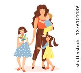 happy mother s day greeting... | Shutterstock .eps vector #1376104439