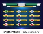 national teams of south america ... | Shutterstock .eps vector #1376107379