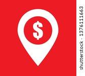 gps locator  dollar icon  stock ... | Shutterstock .eps vector #1376111663