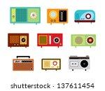 radio vector | Shutterstock .eps vector #137611454