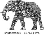 carved elephant. | Shutterstock .eps vector #137611496