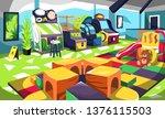 clean kids fun indoor...   Shutterstock .eps vector #1376115503