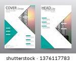 annual report brochure flyer... | Shutterstock .eps vector #1376117783