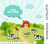 Barn And Cows Background
