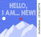text sign showing hello i am... | Shutterstock . vector #1376130776