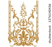 gold vintage baroque ornament ... | Shutterstock .eps vector #1376140436