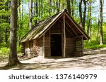 reconstructed iron age house in ... | Shutterstock . vector #1376140979