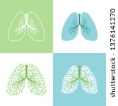 lung and bronchus vector... | Shutterstock .eps vector #1376141270