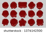 wax stamp. old embossed... | Shutterstock .eps vector #1376142500