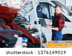 young professional car service... | Shutterstock . vector #1376149019