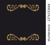 gold ornament baroque style....   Shutterstock .eps vector #1376153666