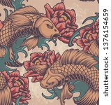 color seamless pattern on the... | Shutterstock .eps vector #1376154659