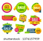 sale banners. price tag... | Shutterstock .eps vector #1376157959