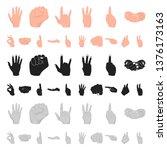 hand gesture cartoon icons in...   Shutterstock . vector #1376173163