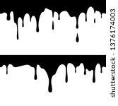 seamless horizontal black ink... | Shutterstock .eps vector #1376174003